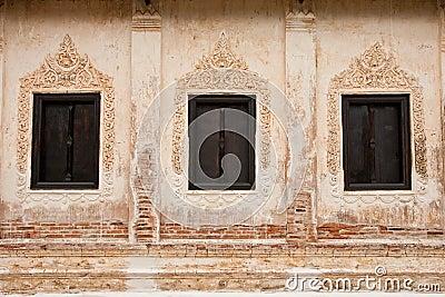 Traditional Thai style church window