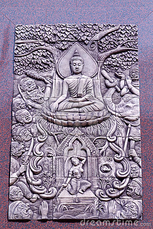 Free Traditional Thai Style Molding Art Stock Images - 15366354