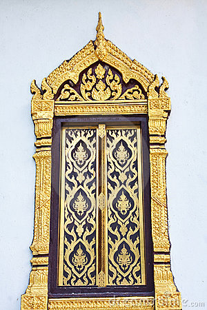 Traditional Thai style window  temple