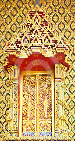 Traditional Thai Style on Window Temple