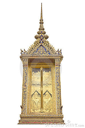 Traditional Thai style window templeTraditional