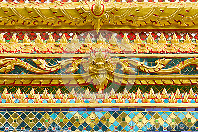 Traditional Thai temple ornament