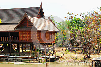 Traditional Thai wooden house