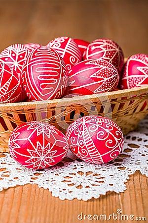 Traditional transylvanian hand written eggs