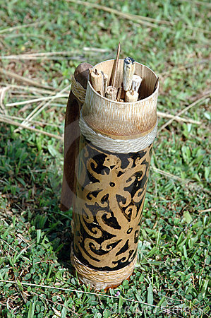 Traditional tribal container kalimantan Indonesia