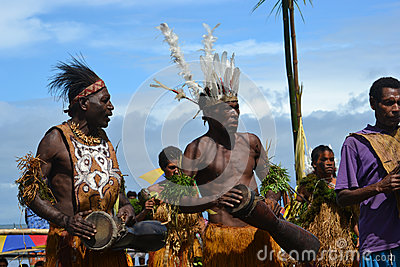 Traditional tribal dance at mask festival Editorial Stock Image