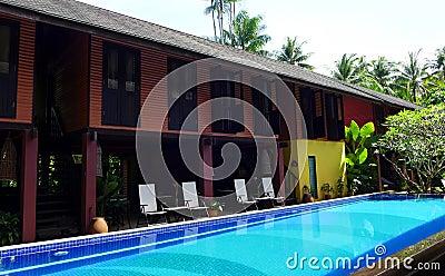 Traditional Tropical resort & swimming pool