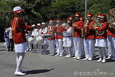 Traditional Turkish Marching Band Editorial Stock Photo