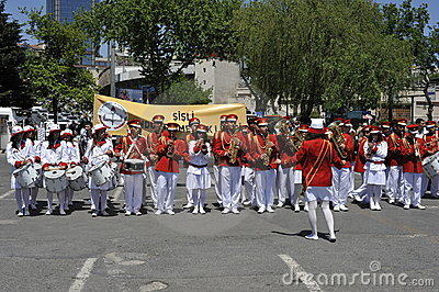 Traditional Turkish Marching Band Editorial Photo