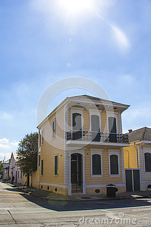 Traditional two story house in new orleans stock photo for Traditional 2 story house
