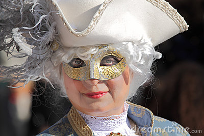 Traditional Venetian Carnival 2011. Editorial Stock Photo