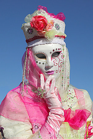 Traditional Venetian Carnival 2011. Editorial Stock Photo