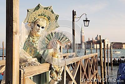 Traditional Venetian Carnival 2011. Editorial Stock Image