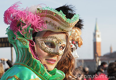 Traditional Venetian Carnival 2011. Editorial Stock Image