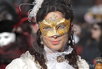 Traditional Venetian Carnival 2011. Editorial Photo