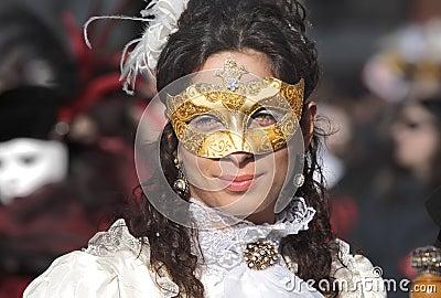 Traditional Venetian Carnival 2011. Editorial Photo