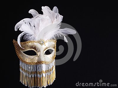 Traditional Venetian Carnival Mask.