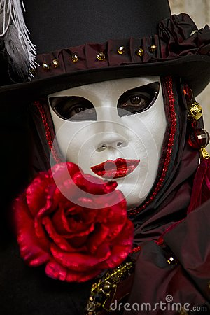 Traditional venetian carnival mask Editorial Stock Image