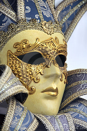 Traditional venetian carnival mask. Venice, Italy Editorial Photo
