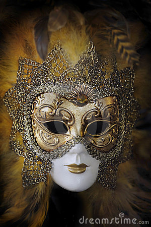 Traditional venetian carnival mask. Venice, Italy Editorial Photography