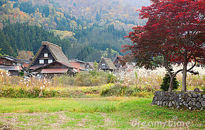 Traditional village Shirakawa-go, Japan