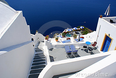 Traditional village of Thira at Santorini