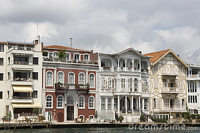 Traditional waterfront houses on the Bosphorus - Y