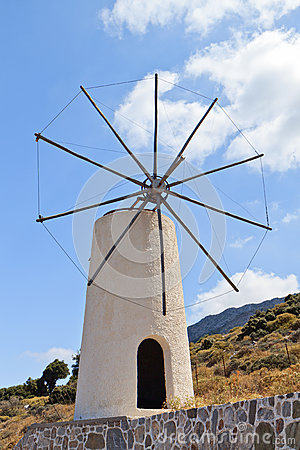 Traditional windmill at Crete island