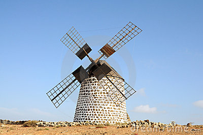 Traditional Windmill on Fuerteventura