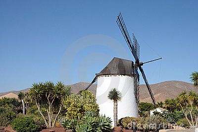 Traditional Windmill, Fuerteventura, Spain