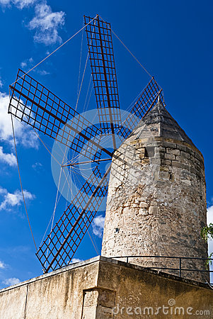 Free Traditional Windmill In Palma De Majorca, Spain. Royalty Free Stock Photography - 24788987