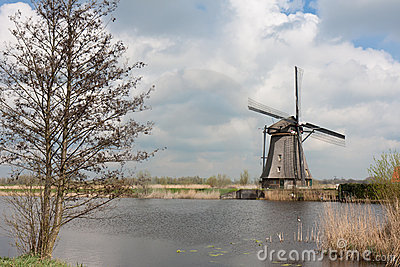 Traditional windmill, Kinderdijk, the Netherlands