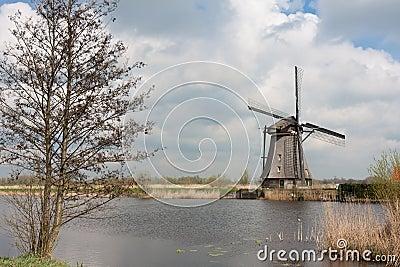 Traditional windmill, Kinderdijk, the Netherlands