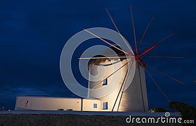 Traditional windmill at Mykonos