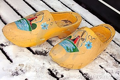 Traditional wooden clogs from the Netherlands