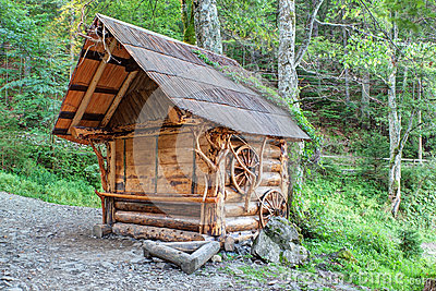 Traditional wooden house in the Carpathian.