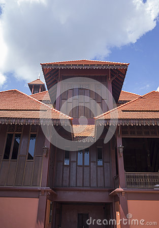 Traditional wooden mosque (masjid) in Malaysia