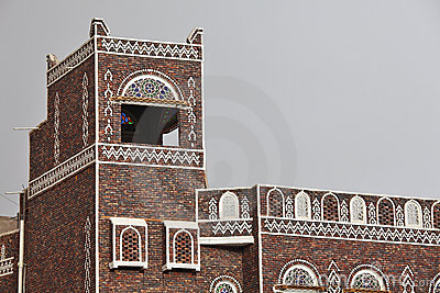 Traditional Yemeni building