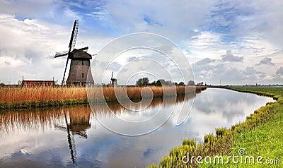 Traditionell holländsk Windmill