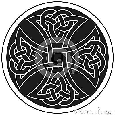 Traditionelle Verzierung des vektorkeltischen Kreuzes