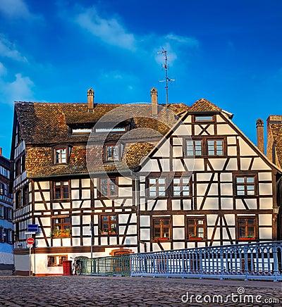 Traditionellt hus i Strasbourg