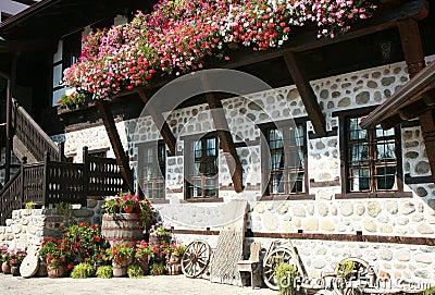 Traditonal bulgarian facade