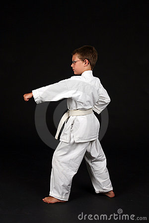 Traditonal karate left stance
