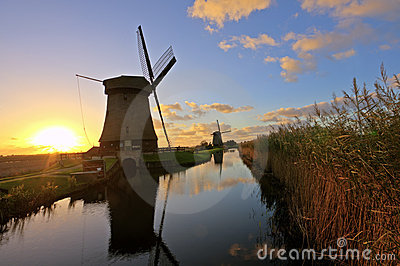 Traditonal windmill in the Netherlands