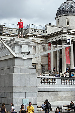 Trafalgar Square 4th plinth Editorial Stock Photo