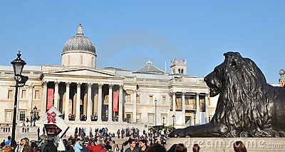 Trafalgar Square, London Editorial Photo