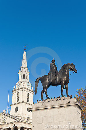 Trafalgar Square at London, England