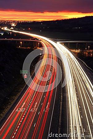 Free Traffic At Night. Royalty Free Stock Photos - 532548