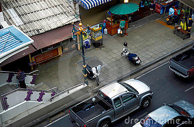 Traffic on Bangkok streets Editorial Stock Image