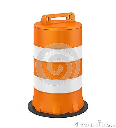 Free Traffic Barrel Isolated Stock Photo - 129804270